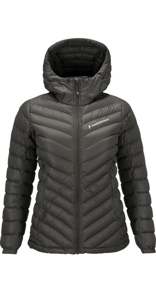 Peak Performance Frost Down Hood Jacket Women Black Olive